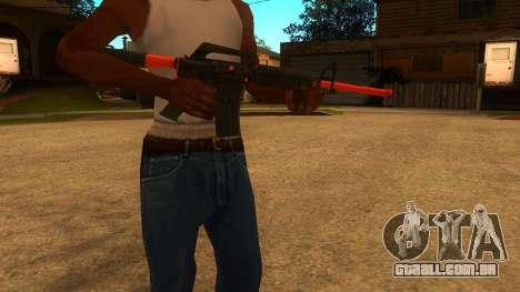 M4A1 Nitro para GTA San Andreas segunda tela