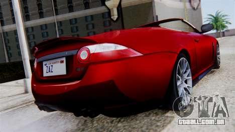 Jaguar XKR-S 2011 Cabrio para GTA San Andreas esquerda vista