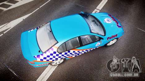 Ford Falcon BA XR8 Police [ELS] para GTA 4 vista direita