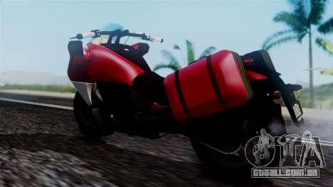 Dinka Vindicator SA Plate para GTA San Andreas traseira esquerda vista