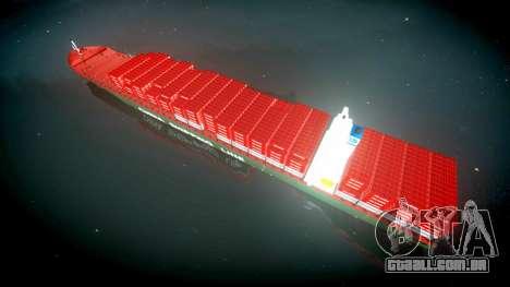 Um navio de contentores para GTA 4 vista direita