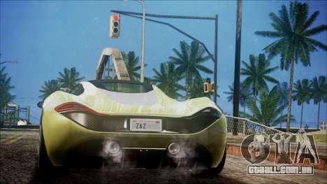 GTA 5 Progen T20 para GTA San Andreas esquerda vista
