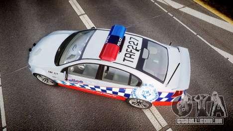 Holden Commodore SS Highway Patrol [ELS] para GTA 4 vista direita