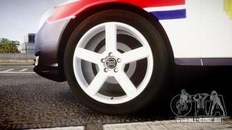 Volvo V70 2014 Norwegian Police [ELS] para GTA 4 vista de volta