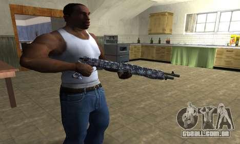 Snowflake Combat Shotgun para GTA San Andreas segunda tela