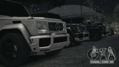 Mercedes-Benz G65 W463 para GTA 4 traseira esquerda vista