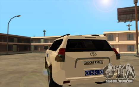 Toyota Land Cruiser OSCE (ОБСЕ) para GTA San Andreas traseira esquerda vista