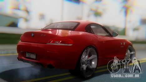 BMW Z4 sDrive35is 2011 2 Extras para GTA San Andreas esquerda vista