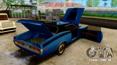 Dodge Charger Super Bee 426 Hemi (WS23) 1971 PJ para GTA San Andreas vista interior