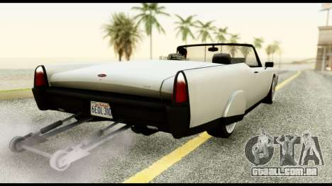 GTA 5 Vapid Chino Tuning v1 para GTA San Andreas esquerda vista
