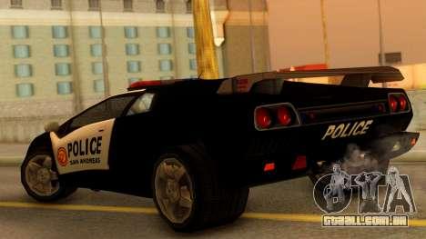 Lamborghini Diablo Police SA Style para GTA San Andreas esquerda vista