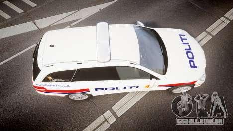 Mercedes-Benz E63 AMG Estate 2012 Police [ELS] para GTA 4 vista direita