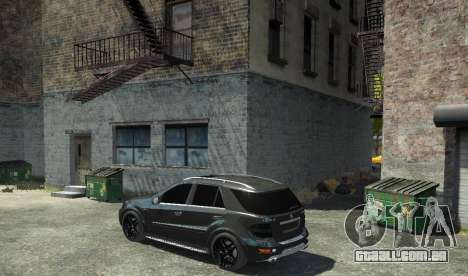 Mercedes-Benz ML63 AMG para GTA 4 esquerda vista