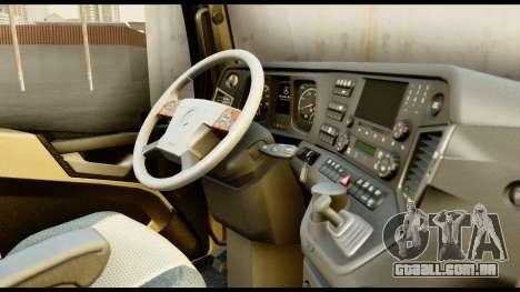 Mercedes-Benz Actros MP4 4x2 Exclusive Interior para GTA San Andreas vista direita