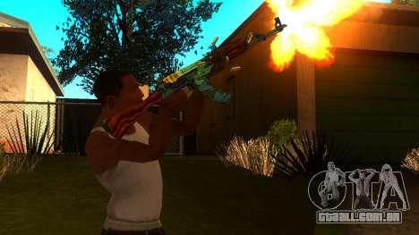 AK-47 Serpente de Fogo para GTA San Andreas terceira tela