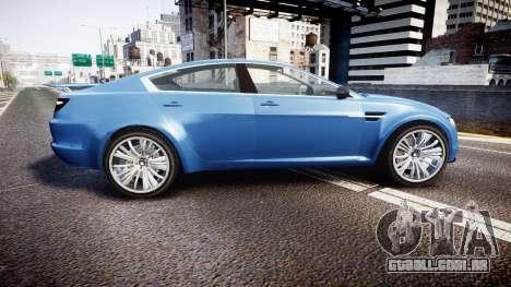 GTA V Ocelot Jackal new york plates para GTA 4 esquerda vista