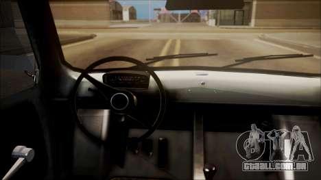 Fiat 600 para GTA San Andreas traseira esquerda vista