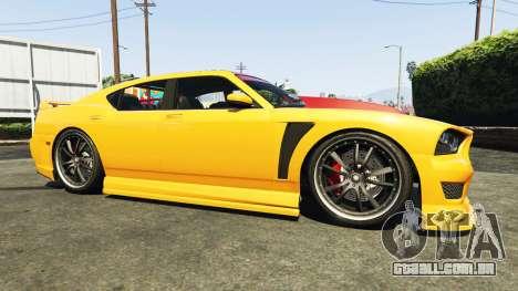 GTA 5 Bravado Buffalo Dodge Charger vista lateral direita