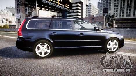 Volvo V70 2014 Unmarked Police [ELS] para GTA 4 esquerda vista