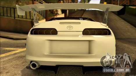 Toyota Supra 1998 E-Design para GTA San Andreas vista interior
