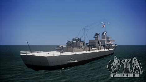 Type 34 Destroyer para GTA San Andreas esquerda vista