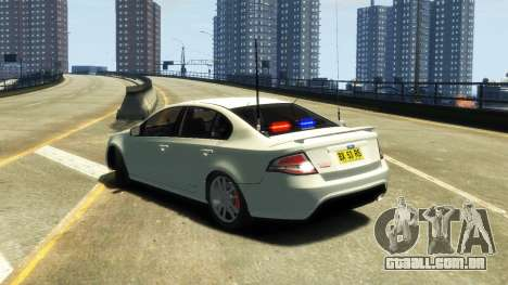 Ford Falcon FG XR6 Turbo Unmarked Police [ELS] para GTA 4 esquerda vista