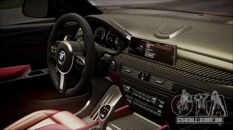 BMW X6M 2015 para GTA San Andreas vista direita