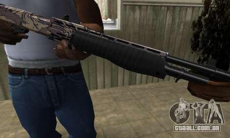 Brown Combat Shotgun para GTA San Andreas