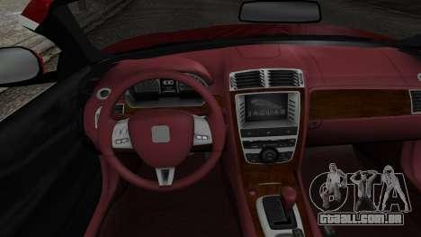 Jaguar XKR-S 2011 Cabrio para GTA San Andreas vista direita