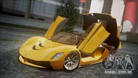 Grotti Turismo RXX-K para GTA San Andreas vista traseira