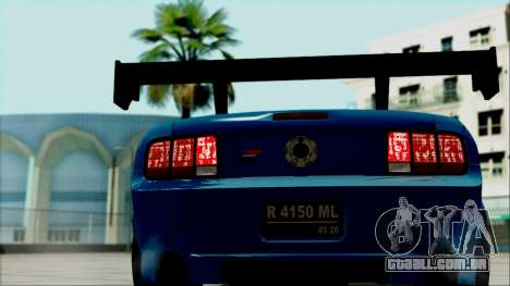 Ford Mustang GT Modification para GTA San Andreas vista traseira