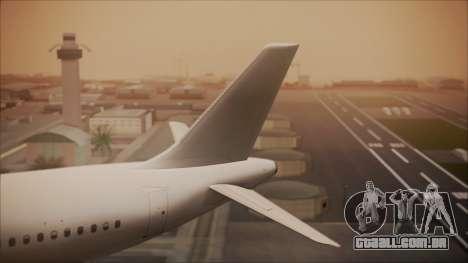 Airbus A320-200 para GTA San Andreas traseira esquerda vista