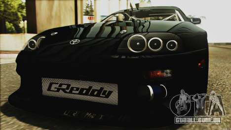Toyota Supra 1998 E-Design para GTA San Andreas vista inferior