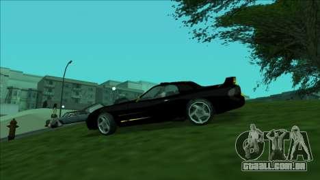 ZR-350 Double Lightning para GTA San Andreas vista interior