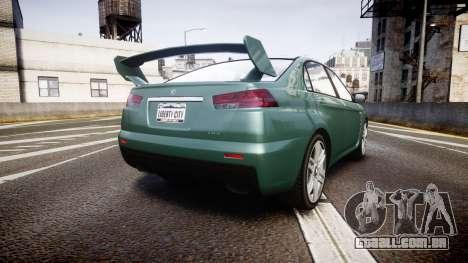 GTA V Karin Kuruma gloss paint para GTA 4 traseira esquerda vista