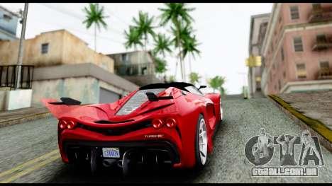 Grotti Turismo RXX-K v2.0 para GTA San Andreas vista interior