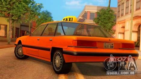 Taxi Intruder para GTA San Andreas esquerda vista