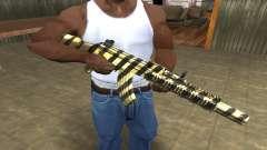 Gold Lines AK-47 para GTA San Andreas