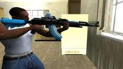Blue Scan AK-47 para GTA San Andreas