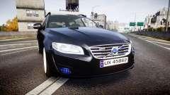 Volvo V70 2014 Unmarked Police [ELS] para GTA 4