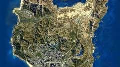 Mapa de satélite em 2K