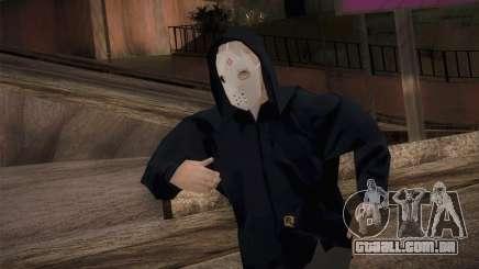 Mercenário máfia na capa e máscara para GTA San Andreas