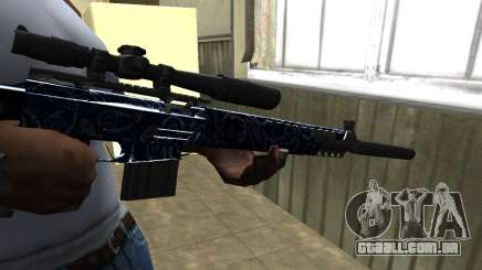 Blue Oval Sniper Rifle para GTA San Andreas