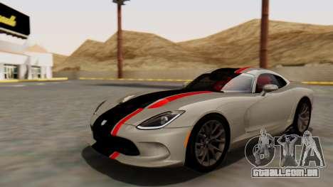 Dodge Viper SRT GTS 2013 HQLM (HQ PJ) para GTA San Andreas vista superior
