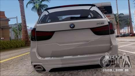 BMW X5 F15 BUFG Edition para GTA San Andreas vista direita