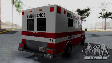 Ambulance with Lightbars para GTA San Andreas esquerda vista