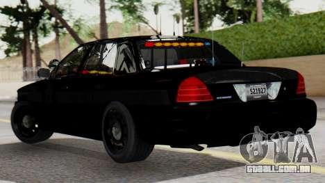 FBI Rancher 2013 para GTA San Andreas esquerda vista