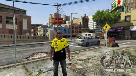 GTA 5 T-shirt para o Natus Vincere Franklin terceiro screenshot