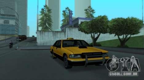 New Taxi para GTA San Andreas vista interior