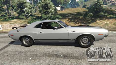 GTA 5 Dodge Challenger RT 440 1970 v0.8 [Beta] vista lateral esquerda